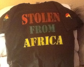 Stolen From Africa Distressed Painted Tshirt