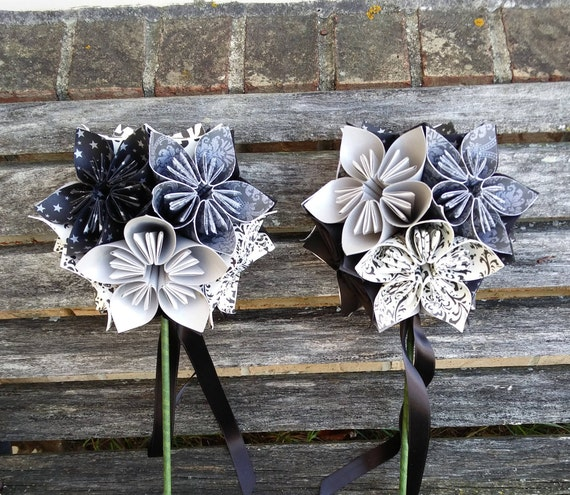 Kusudama Ball Wands. CHOOSE YOUR OWN Book, Colors, Etc. Flower Girl, Bridesmaid Flower. Custom Orders Welcome.
