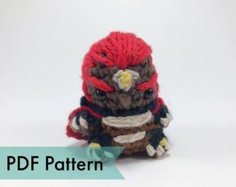 Ganon from Legend of Zelda Crocheted Amigurumi Finger Puppet PDF Pattern