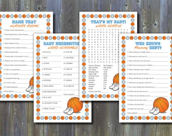 Basketball-Themed Baby Shower Games - Printable Instant Download