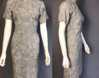 1940s cheongsam  / 1940s rayon dress