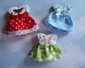 Set of 3 Dresses 1 12 scale doll house miniature dresses set of 3 dresses scale 1:12