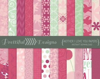 Mothers Day Digital Paper