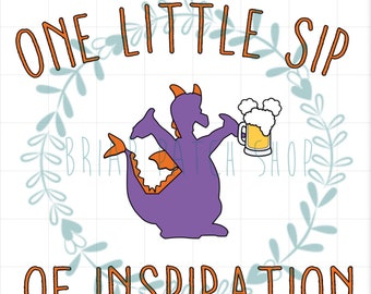 Figment one little sip iron on