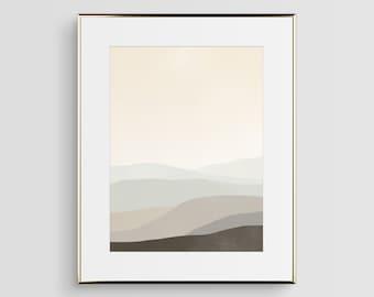Grande impression d'Art abstrait, neutre Wall Art, scandinave moderne Art abstrait, Art minimaliste, paysage abstrait, Art Beige, grand Art mural