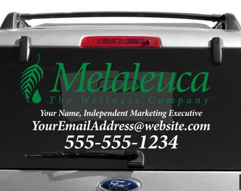 SALE- Melaleuca Dual Color Custom Vehicle Decal