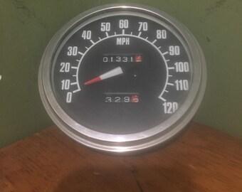 Vintage motorcycle speedometer