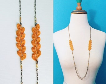 Atwood Crochet Necklace - Harvest Gold