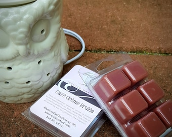 Cafe Creme Brulee Scent - Soy Wax Melts - Soy Wax Tarts - Scented Wax Melts - Candle Melts - Scented Wax Cubes