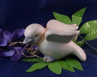 Vintage Shabby Chic Ceramic Duck Figurine, 1980s