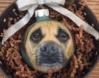 Your Pet Hand Painted On A Christmas Ornament Total Teensy Masterpiece Free US Shipping
