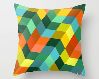 Decorative pillow cover - Colorful pillow cover - Geometric pillow - Colorful pillow - Modern pillow