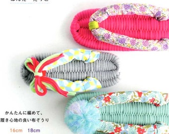 WEAVE & MAKE Cute Fabric Sandals -Japanese Craft Book