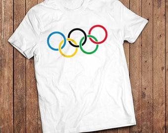 Retro Olympic ring T-Shirt, Classic Olympics, Vintage style shirt