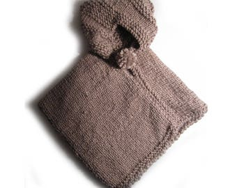 Hooded poncho, child, it's gone 12/15 months handmade