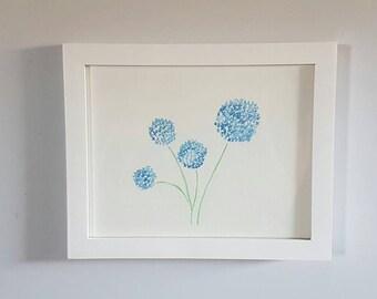 Blue Wildflowers - Watercolor - Original