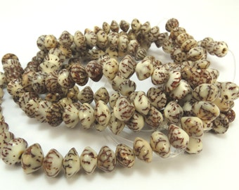 8mm Wood Beads, Betel Nut Beads, 8x6mm Double Cone Beads, Wood Cone Beads, 16 inch Strand Wood Beads, Jewelry Making Supplies, Item 735wb