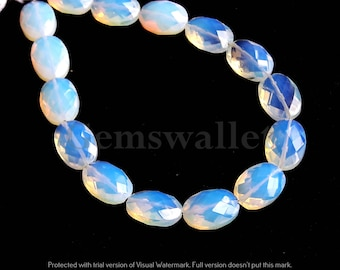 Opalite Quartz Faceted Brioletts, Opalite Quartz Oval Briolette 10 Pieces, 14x10 mm, Opalite Quartz Loose Gemstone.