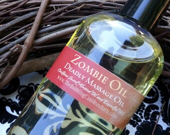 Zombie Scent - Massage Oil - Deadly Massage Oil - 4 Ounces - Eucalyptus Spearmint - Zombie Oil