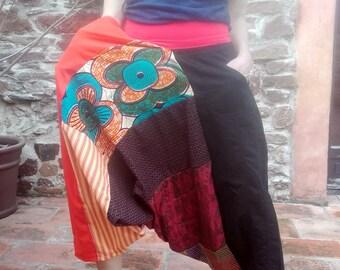 Mixed size S/M composition 8 patchwork harem pants cotton Wax & LIne