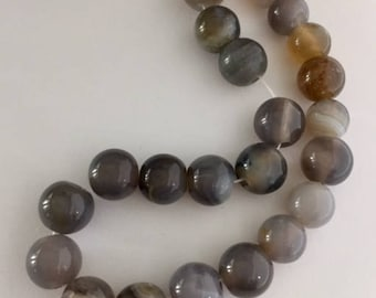 Agate Beads - 23 beads approximately 9mm