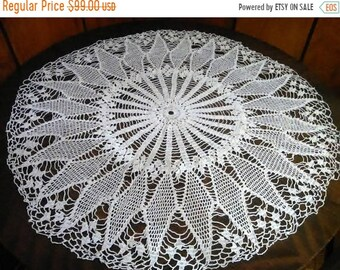 hand-knit tablecloth, cover from Bulgaria, one-crochet needle, crochet,napkin on your table, tablecloth, unique for table in the living room