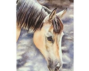 Custom Horse Painting, Horse Portrait, Horse Watercolor, Equine Art, Horse Art, Watercolor Horse, Equine Portrait, Hand painted Horse