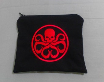 Hydra Symbol Embroidered Zipper Pouch