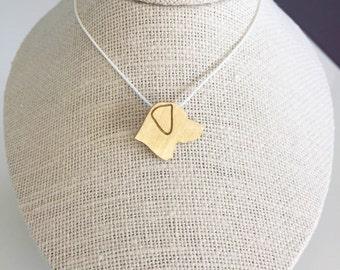 Labrador necklace, Labrador charm, Labrador jewelry, Labrador silhouette, Brass dog necklace, pet memorial gift