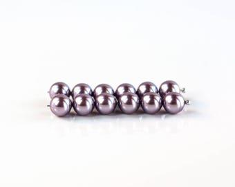 2906 Swarovski crystal pearls 5810 8mm Crystal Mauve Pearl Lilac pearls Faux pearls Swarovski pearl beads Glass pearls Round 20 pcs.