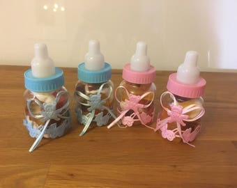 10 baby shower sweetie favors in either colour