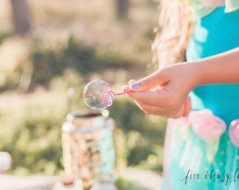 20 Handmade Party or Wedding Bubbles, Bubble Wand Favors, Random Colors, No Customization, Fairy party