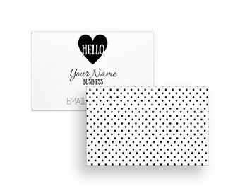 Business Cards | Business Card | Calling Cards | Custom Business Cards | White Business Card | Polkadots | Download | Printable