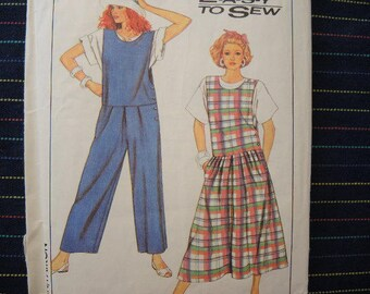 Vintage 1980s Simplicity sewing pattern 9044 misses jumper and jumpsuit size small 10-12