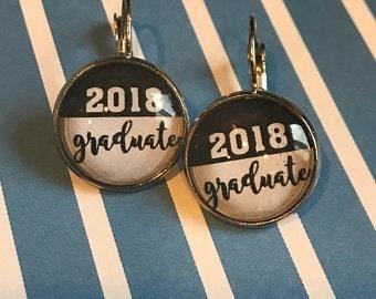 2018 graduate cabochon earrings - 16mm