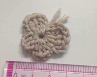 4 beige crochet Butterfly