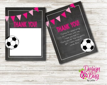 Soccer Birthday Thank You Note