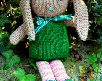 Hand-knitted Lop-Eared Bunny Wabbit