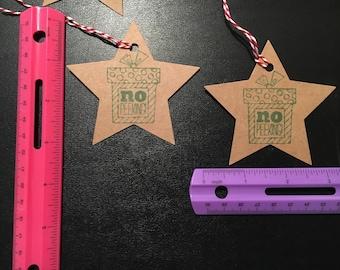 set of 10 kraft colored Christmas tags!