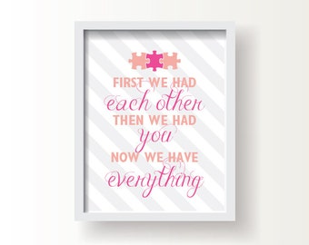 """Puzzle Quote, Baby or Kid;  8""""x10"""" or 11""""x14""""print, Original Design, Custom Color, Baby Shower Gift"""