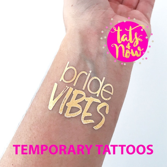 Bride Vibes + Tribe Vibes gold tattoos