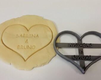 Custom Heart Cookie Cutter - Wedding Cookie Cutter