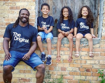 The Original   The Remix   Four Piece   Matching Clothes   Tees   Cute Vacation   Tshirts   For Family   Mom and Dad   Kids Clothing   TS