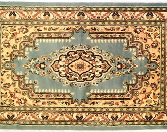 Persian Hand Knotted Silk Wool Rug