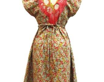 little sister Christel Japanese cotton velvet dress