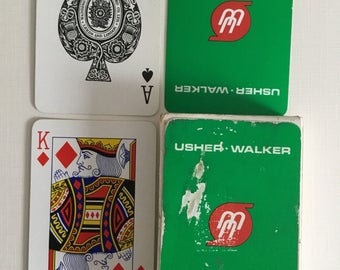 Usher Walker, Plastic coated, playing cards.