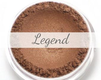 "Eyeshadow Sample - ""Legend"" - bronze brown natural mineral makeup"