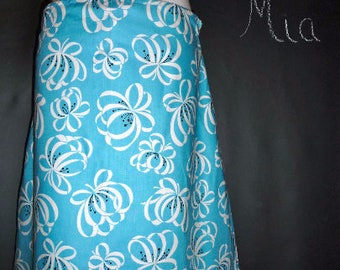 Sample SALE - Will fit Size XS/S - Ready to Mail - A-line SKIRT - Retro and Kitchy - by Boutique Mia