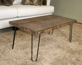 Modern Coffee Table, Hairpin Leg Coffee Table, Wooden Coffee Table, Industrial Coffee Table, Rustic Table, Rustic Home Decor, Mother's Day