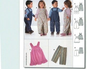 Burda Easy 9772 Sewing Pattern for Boy and Girl Jumper, Jumpsuit and Pants, Sizes 6M -3
